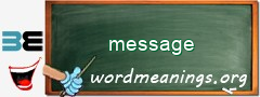 WordMeaning blackboard for message
